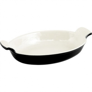 Vogue Oval Gratin Black - 650ml 55x255x160mm