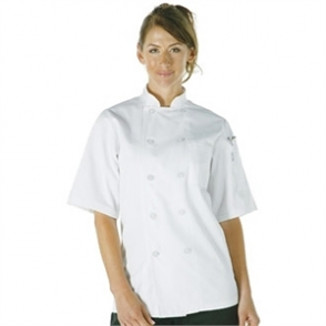 Chefs Jacket by Chefs Works, Short Sleeve in White