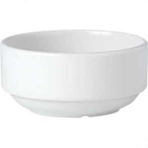 Steelite Simplicity White Stacking Soup Cups 285ml (Box 36)