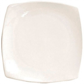 Olympia Round Square Plate Ivory 241mm 9 1/2 (Box 12)