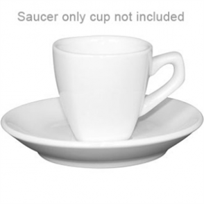 "Rounded Square Saucer -150mm/ 6"". 200ml. Fits cup Y115 (Box 12)"