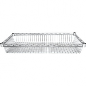 Vogue Wire Basket - 457x1220mm (105mm deep) (Pack 2 incl 8 pairs of clips)