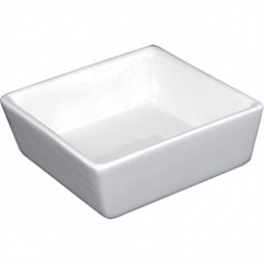 Olympia Whiteware Mini Square Dish - 80x80x35mm 3 1/8x3 1/8x1 3/8 (Box 12)