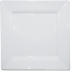 Olympia Whiteware Square Plate Wide Rim - 25cm 10 (Box 6)
