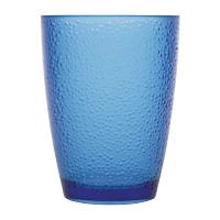 Kristallon Polycarbonate Tumbler Pebbled Blue 275ml (Pack of 6)