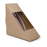 Compostable Sandwich Wedge Standard - 65mm (Case 500)