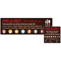 Food Allergen Window and Wall Stickers (8pp)