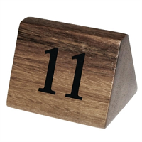 Wooden Table Number Signs Nos 11-20