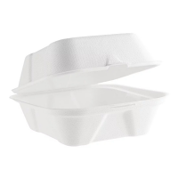Compostable Bagasse Burger Box 6in (Case 500)