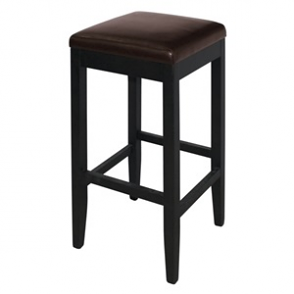Bolero Faux Leather High Bar Stools Dark Brown (Pack of 2)