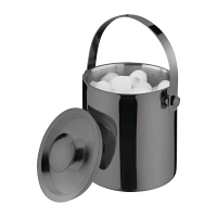 Olympia Titanium Barware Ice Bucket Double Wall With Lid 2Ltr