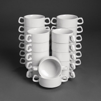 Special Offer - Athena Hotelware Stacking Soup Bowls 290ml / 10oz Bulk Buy 24 Pack