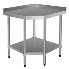 Vogue Stainless Steel Corner Table 900 x 800 x 700mm