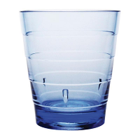 Kristallon Polycarbonate Ringed Tumbler Blue 285ml (Pack of 6)
