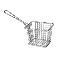 Olympia Square Presentation Basket St/St Small - 80(H)x100(W)x80mmD