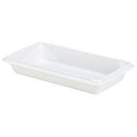 Royal Genware Gastronorm Dish 1/3 55mm White