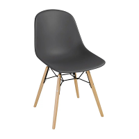 Bolero PP Moulded SideChair (Charcoal) with Spindle Legs (Pack 2)