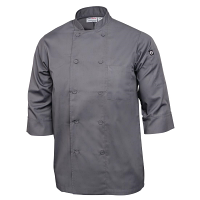 Colour by Chef Works 3/4 Sleeve Jacket - Grey