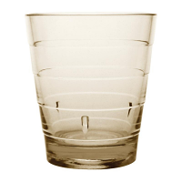 Kristallon Polycarbonate Ringed Tumbler Tan 285ml (Pack of 6)