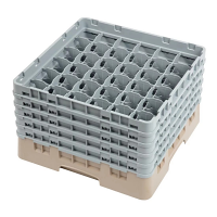 Cambro Camrack Beige 36 Compartments Max Glass - Height 257mm