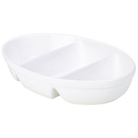 R.G.3 Divided Veg. Dish 24cm White