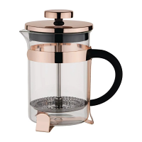 Olympia Copper Contemporary Cafetiere St/St - 12 cup 1500ml