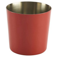 Red Stainless Steel Serving Cup 8.5 x 8.5cm