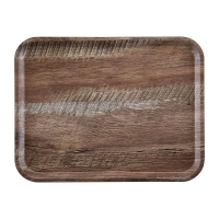 Cambro Wood Grain Tray Madeira 360 x 460mm Dark Oak