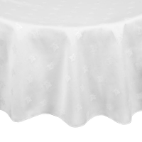 Luxor Round Tablecloth White 1725mm
