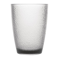 Kristallon Polycarbonate Tumbler Pebbled Clear 275ml (Pack of 6)