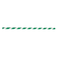 """Paper Straws-Green and White Stripes 8"""" Boxed (100 pp)"""
