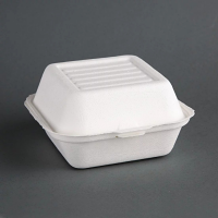 Compostable Burger Box Hinged - 84x153x150mm (Pack 500)