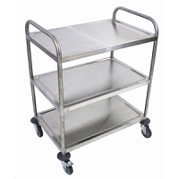 Craven Stainless Steel 3 Tier Clearing Trolley