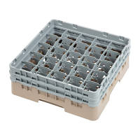 Cambro Camrack 25 Compartment Glass Rack Beige - Max Height 133mm