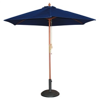 Bolero Round Navy Blue Parasol 2.37m High