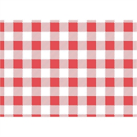 Red Gingham Greaseproof Paper - 250x250mm (Pack 200)