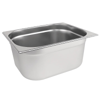 Stainless Steel Gastronorm Pan - 1/2 Size 150mm deep