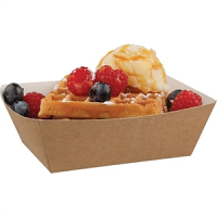 Disposable Kraft Tray Small (500 Per Pack)