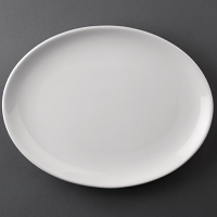 Athena Hotelware Oval Coupe Plate 254x 178mm ( Box 12)