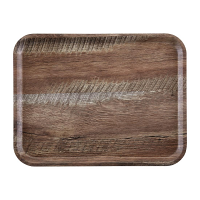 Cambro Wood Grain Tray Madeira 330 x 430mm Dark Oak