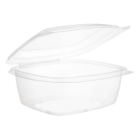 Compostable Deli Container 24oz PLA with hinged lid case 200