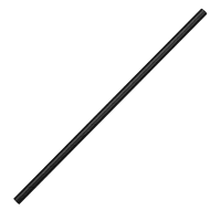 Biodegradable Paper Straw Black 6mm box of 250