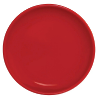 """Olympia Cafe Coupe Plate Red - 250mm 10"""" (Box 6)"""