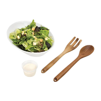 Olympia Wooden Salad Utensil Set (Fork & Spoon)