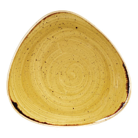 Churchill Stonecast Triangle Plate Mustard Seed Yellow 229mm