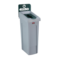 Rubbermaid Slim Jim Recycling Station Single Stream - Mixed Recycling (Green)