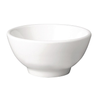 Pure Round Bowl Melamine White - 130mm