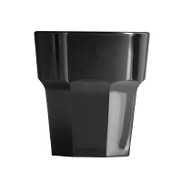 BBP Polycarbonate Rocks Tumbler 256ml Black