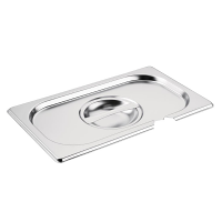 Vogue Stainless Steel 1/4 Gastronorm Notched Lid