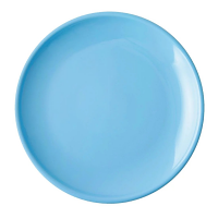 """Olympia Cafe Coupe Plate Blue - 200mm 8"""" (Box 12)"""